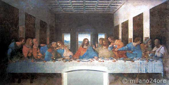 Leonardo da Vinci  Das letzte Abendmahl in Mailand  milano24orede